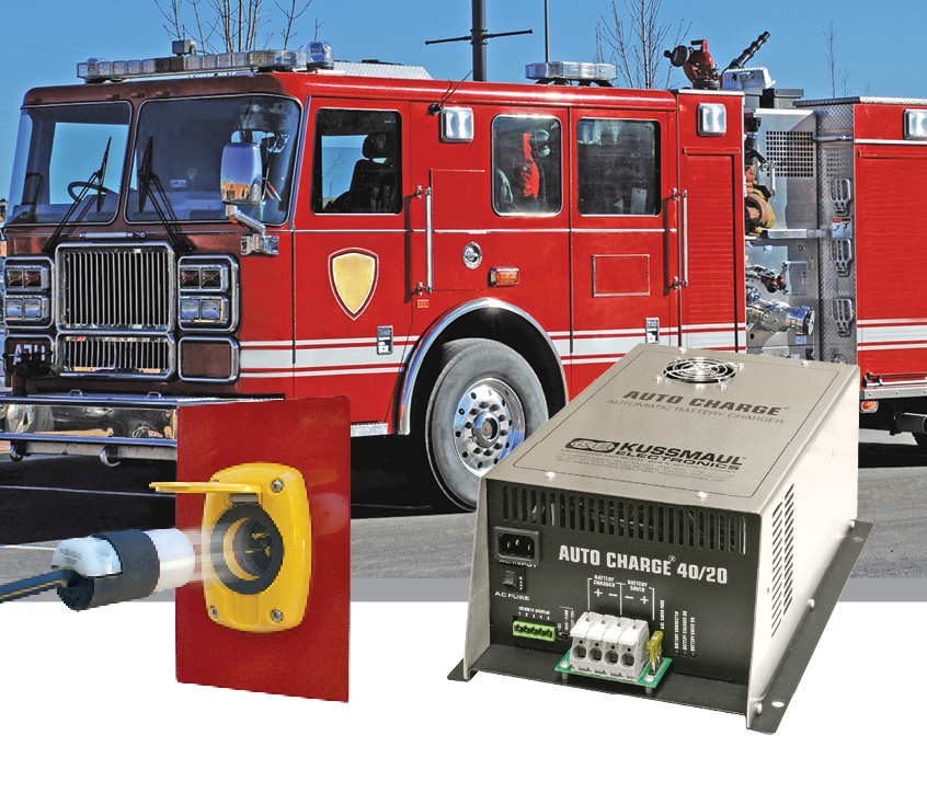 Automatic Cord Eject Speeds Truck Departures from Firehouse, Charger Maintains Batteries