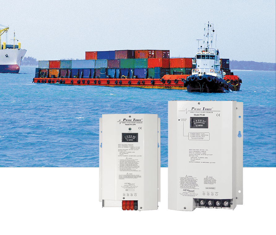 Battery Chargers for Communication, Navigation and Emergency Systems for Marine Applications by Mission Critical Electronics